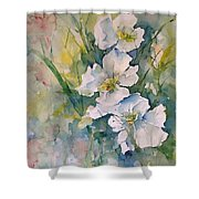 Watercolor Wild Flowers Shower Curtain