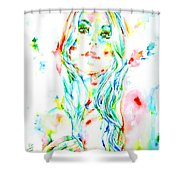 Watercolor Woman.1 Shower Curtain