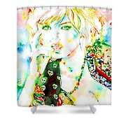 Watercolor Woman.3 Shower Curtain
