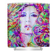Watercolor Woman.32 Shower Curtain