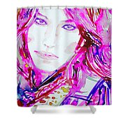 Watercolor Woman.33 Shower Curtain