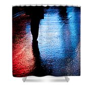 Times Square Watercolours Shower Curtain