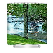 Waterfall And Hammock In Summer 2 Shower Curtain