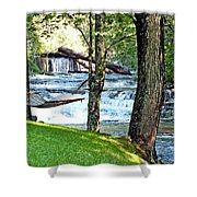Waterfall And Hammock In Summer 3 Shower Curtain