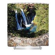Waterfall And Rainbow 3 Shower Curtain
