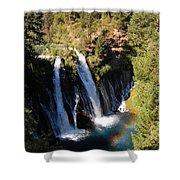 Waterfall And Rainbow Shower Curtain