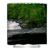 Waterfall At George W Childs Park Shower Curtain