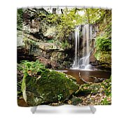 Waterfall At Roughting Linn Shower Curtain