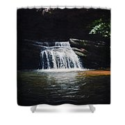 Waterfall At Table Rock National Forest Shower Curtain
