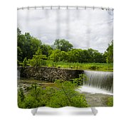 Waterfall At Valley Creek Near Valley Forge Shower Curtain