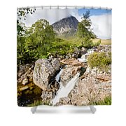 Waterfall Below Stob Dearg Shower Curtain