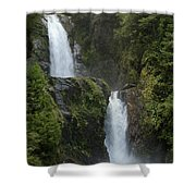 Waterfall, Chile Shower Curtain