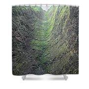 100453-waterfall Chute  Shower Curtain
