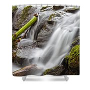 Waterfall Close Up In Marlay Park Shower Curtain