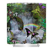 Waterfall Daydream Shower Curtain by Alixandra Mullins