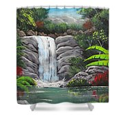 Waterfall Fantasy Shower Curtain