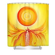 Waterfall From Series Angel's Town Shower Curtain