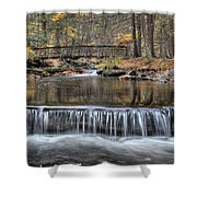 Waterfall - George Childs State Park Shower Curtain