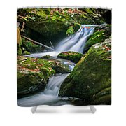 Waterfall Great Smoky Mountains  Shower Curtain