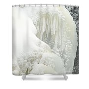 Waterfall Ice Formation Shower Curtain