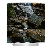 Waterfall In A Forest, Arethusa Falls Shower Curtain