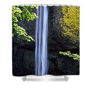 Waterfall In A Forest, Latourell Falls Shower Curtain