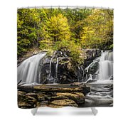 Waterfall In Autumn Shower Curtain
