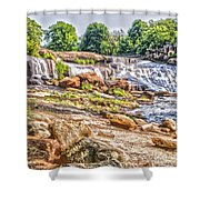 Waterfall In Contrast Shower Curtain