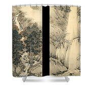 Waterfall In Spring And Autumn Shower Curtain