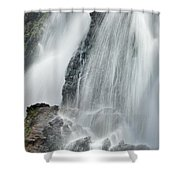 Waterfall In Spring Shower Curtain