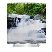 Waterfall In The Pocono Mountains Shower Curtain