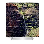Waterfall In The Valley Shower Curtain