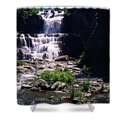 Waterfall Into The Stream Shower Curtain