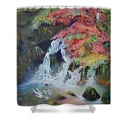 Japanese Waterfall Shower Curtain