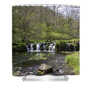 Waterfall Lathkill Dale Derbyshire Shower Curtain