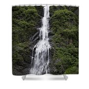 Waterfall Near Valdez Ak Shower Curtain