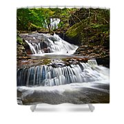 Waterfall Oasis Shower Curtain
