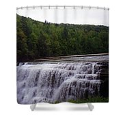 Waterfall On The River Shower Curtain