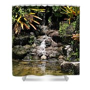 Waterfall On The Rocks Shower Curtain