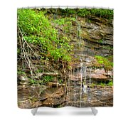 Waterfall On The Way To Thurmond Shower Curtain