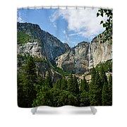 Waterfall, Yosemite Valley, Yosemite Shower Curtain