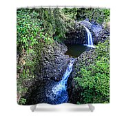 Waterfalls And Pools Maui Hawaii Shower Curtain