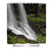 Waterfalls At Base Shower Curtain