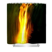 Waterfalls By Light Shower Curtain