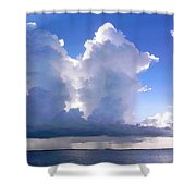 Waterfalls Over Florida Bay Filtered Shower Curtain
