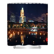 Waterfire Providence Shower Curtain