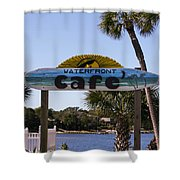 Waterfront Cafe Shower Curtain