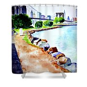 Waterfront In Dumbo Shower Curtain