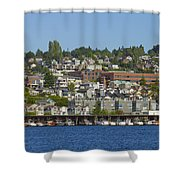 Waterfront Living On Lake Union Shower Curtain