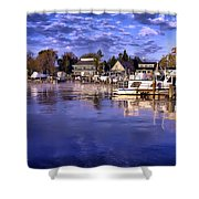 Waterfront Morning Shower Curtain